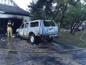 Buaas' SUV:  Where the Fire Started