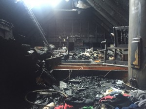 Fire Damage in the Buaas House
